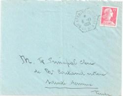 3560 Ste HERMINE Vendée CP N° 5 Mayenne Muller 15 F Yv 1011 Ob Hexagone Pointillé Poste Auto Rurale 8 11 1955 Lautier G6 - Postmark Collection (Covers)