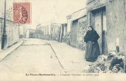 Le Vieux Montmartre - L'impasse Girardon (Paris-18) 10 Juillet 1904 - Arrondissement: 18