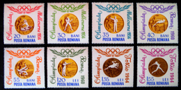 MEDAILLES D´OR OLYMPIQUES ROUMAINES 1964 - NEUFS ** - YT 2068/75 - MI 2345/52 - 1948-.... Republics