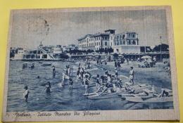 ITALIA - 1939 , NETTUNO, ANIMATA, VIAGGIATA , ANNULLO SU IMPERO  20 CENT - Altre Città