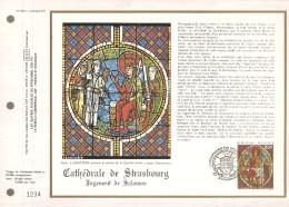 FRANCE    -   1985  .  Feuillet CEF  N° 768  -  Cathédrale De STRASBOURG - Documents De La Poste