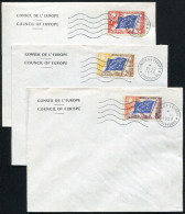 FRANCE - SERVICE N° 17 OM DU 10/10/1958 + N° 18 DU 11/10/1958 & N° 20 DU 13/10/1958 / 3 FDC - SUP - Neufs