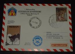 1.  Ballon Postflug Ballonpost   1988  Südtirol Italien  #cover3198 - Montgolfier
