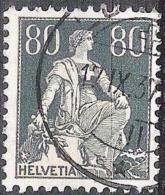 Helvetia 1933: Zu 141z Mi 141z Yv 166 (geriffelt-grillé) Mit O LUZERN 17.IX.37 (Zumstein CHF 7.00) - Gebraucht