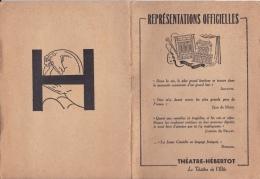 16 / 9 / 245   -  Représentations  OFFICIELLES  -  THÉATRE - HÉBERTOT - Programs
