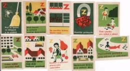 Czechoslovakia, Boites D'allumettes-etiquettes,matchbox Labels, Protection De L'environnement, Araignée - Boites D'allumettes - Etiquettes