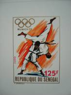 SENEGAL 1972 Nr 368 / 371 In 4 LUXE PROOFS / OLYMPIC GAMES MUNICH / IMPERFORATED / Proofs / JUDO LUTTE BASKET-BALL - Sénégal (1960-...)