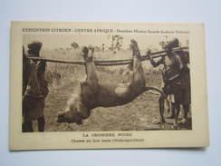 EXPEDITION CITROEN , CENTRE AFRIQUE, Deuxième Mission...LA CROISIERE NOIRE , CHASSE AU LION DANS L'OUBANGUI-CHARI - Centrafricaine (République)