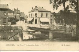 HERSTAL   LE PONT N°3   ET RUE DES GRIS  (  ECRITE  1905 ) - Herstal