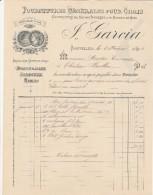 Facture 5/2/1894 GARCIA Fournitures Pour Chais MONTPELLIER  Hérault - France