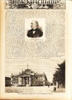 """Theodor Fontane / Der Neue Justizpalast In Straßburg    - Artikel, Entnommen  Aus """"die Gartenlaube"""", 1898 - Revues & Journaux"""