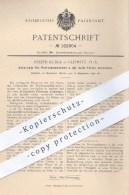 Original Patent - Joseph Kudla In Gleiwitz , 1898 , Untersatz Für Petroleumkannen , Petroleum , Öl , Kanne , Brenner !! - Historische Dokumente