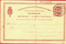 Danmark Postal Card 1891 ... AH236 - 1864-04 (Christian IX)