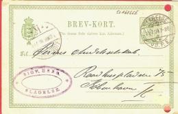 Danmark Postal Card 1904 Slagelse ... AH231 - 1864-04 (Christian IX)