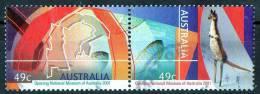 Australia 2001 Opening Of National Museum 49c Se-tenant Pair Used, Kangaroo On Right - 2000-09 Elizabeth II