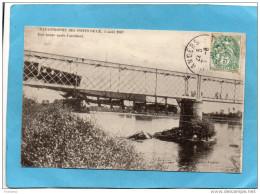 Les Ponts De Cé-catastrophe Ferroviaire De 4 Aout 1907-1 Heure Aprés L´accident-a Voyagé 7 Aout 1907 - Catastrophes