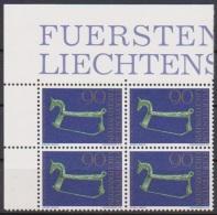 Lichtenstein 1976 MiNr.648  ** 4er Block 75 Jahre Historischer Verein ( 3539 ) - Unused Stamps