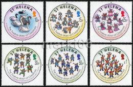 Saint Helena - 2007 - The Twelve Days Of Christmas, 2nd Part - Mint Stamp Set - Saint Helena Island