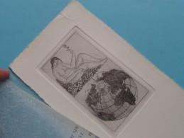 Kunstkring 'T GETIJ Kopergravure J.W. CORNELIS ( Wij Wensen Voor U Een Aarde Die Bewoonbaar Kan Blijven ) ! - Prenten & Gravure