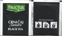 TEA BAG  (FULL) SACHET DE THÉ FRUCTUS BLACK TEA From Serbia - Unclassified