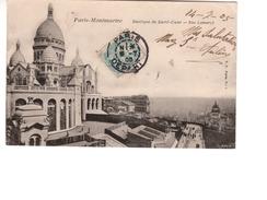 75--PARIS-MONMARTRE--CPA--Basilique Du Sacré-Coeur--Rue Lamarck - Sacré Coeur