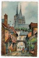 L´ AIGLE--1951--L´église Saint Martin Vue D´une Vieille Cour (animée)-illustrateur BARDAY-cachet RANDONNAI-61...à Saisir - L'Aigle