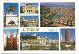 LYON 1999. Place Bellecour Theatre Des Celestins Hotel De Ville La Tour Rose La Saone... - Lyon