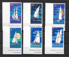 1973 MNH Bulgaria Sailboats Imperforate - Nuevos