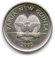 Papua New Guinea 5 Toea 2005 - Papuasia Nuova Guinea