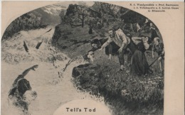 Tell's Tod - Nach Dem Waldgemälde Von Prof. Bachmann I. D. Tellskapell A. D. Hohen Gasse In Küsnacht - Stempel: Immensee - SZ Schwyz