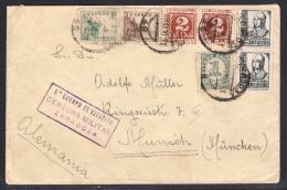España 1938. Carta De Vinaroz A Munich. Censura. - Marcas De Censura Nacional
