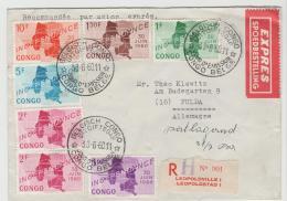 BG053a / Lopoldsville, FDC Per Express Einschreiben Nach Fulda,  Deutschland 30.6.1069 - Belgisch-Kongo