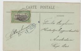 BG054a / Kinshasa 1913, Ansichtskarte Von Franz. Kongo Per Drucksache 5 C. Nach Amsterdam