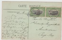 BG055 / Brazz. 1913 Auf Ansichtskarte Von Franz. Kongo Mit 2 X 5 C. Hafen Von Matadi Nach Amsterdam