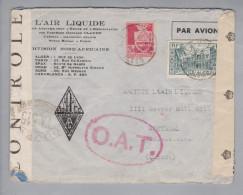 Algerien 1944-03-23 Alger-Plustapha Doppelzensur O.A.T. Luftpostbrief Nach Montreal Kanada - Algérie (1962-...)