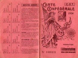 VP5529 - Carte Confédérale De La C.G.T - Fédération De L'Alimentation à PARIS  - Mr J.FREPP De VILLEPARISIS - Cartes