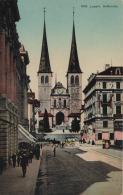 Luzern - Hofkirche Mit Postkutsche Avec Diligence - Litho Steindruck Wehrli AG 1519 - LU Lucerne