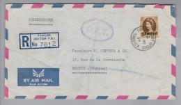 Marokko Tanger Tangier 1955-05-18 R-O.A.T. Luftpostbrief Nach Genève CH - Maroc (1956-...)