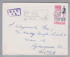 Europa Gibraltar 1964-12-03 OAT F8 Auf Brief Nach Wien AT - Gibraltar