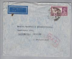 Indien 1945-11-05 O.A.T. Luftpostbrief 14-Anna Nach Bäretswil Schweiz - Inde