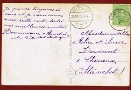 Statte Huy 18.10.????  & Stavelot  20/10/1919: 2 Oblitérations De Fortune, Noodstempels - Postmark Collection
