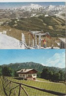 ABETONE PISTOIA N. 2 CARTOLINE PANORAMA F/G VIAGGIATE  1963 1964 - Firenze (Florence)