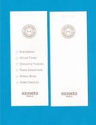 Cartes Parfumées Carte  Collection Hermessence De  Hermès 6 FRAGRANGES - Modernes (à Partir De 1961)