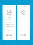 Cartes Parfumées Carte Hermès  Collection Hermessence De  Hermès 7 FRAGRANGES - Modernes (à Partir De 1961)