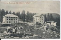 GIL773 - ALBERGO BARICATA DI GRIGNO - CASERM MILITARI - TRENTINO - FOR. PICCOLO - VIAGGIATA 1914 - Autres Villes