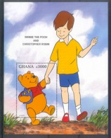 Myh277 WALT DISNEY WINNIE THE POOH AND ROBIN BEER BEAR GHANA 1996 PF/MNH - Disney