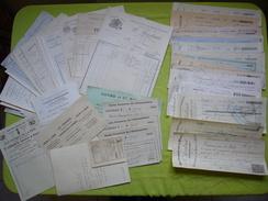 Archive 19 ème Factures, Reçus, Chèques Avec TP Fiscaux Au Petit Séminaire De Monistrol Sur Loire  A VOIR - Vieux Papiers