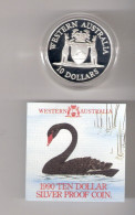 AUSTRALIE 10 DOLLARS 1990 AG PROOF THE WESTAUSTRALIAN STATE COAT OF ARMS - Moneda Decimale (1966-...)