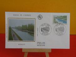 FDC - Canal De L'Ourq à Bondy - 93 Bondy - 30.5.1992 - 1er Jour,Coté 2,50 € - FDC