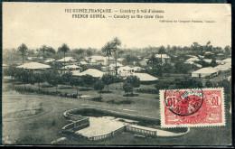GUINÉE FRANCAISE - N° 37 / CPA CONAKRY A VOL D'OISEAU , LE 7/4/4908 , POUR LYON - TB